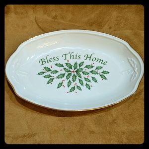 Lenox Holiday 'Bless This Home' Tray